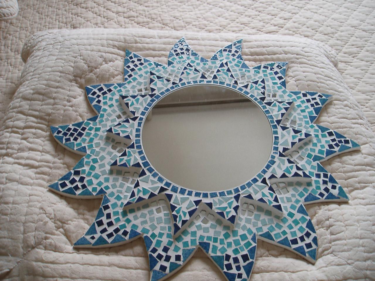 Mosaique mosa ques artisanales for Mosaique miroir