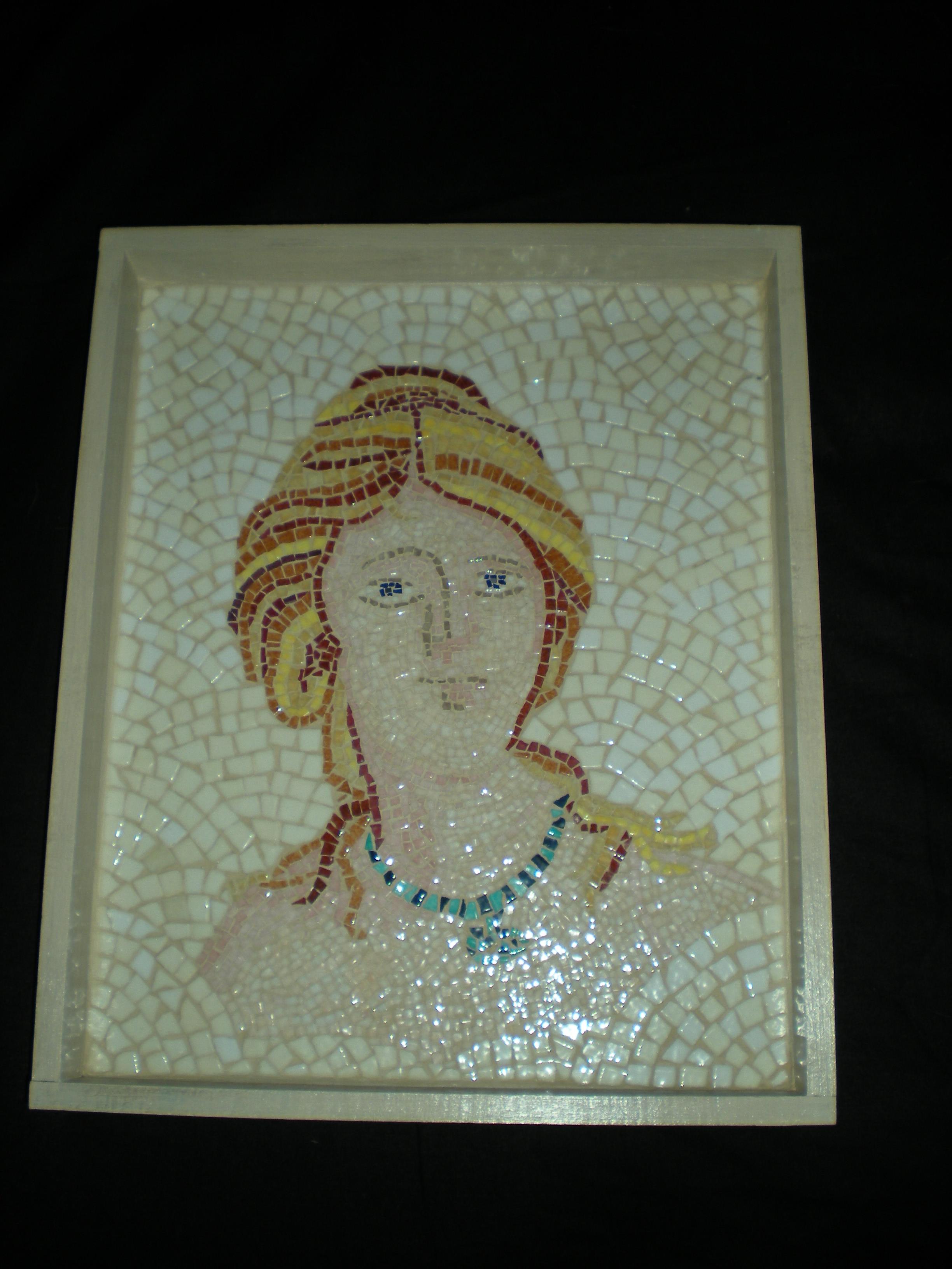 Mosa que la v nus romaine mosa ques artisanales - Modele mosaique pour plateau ...